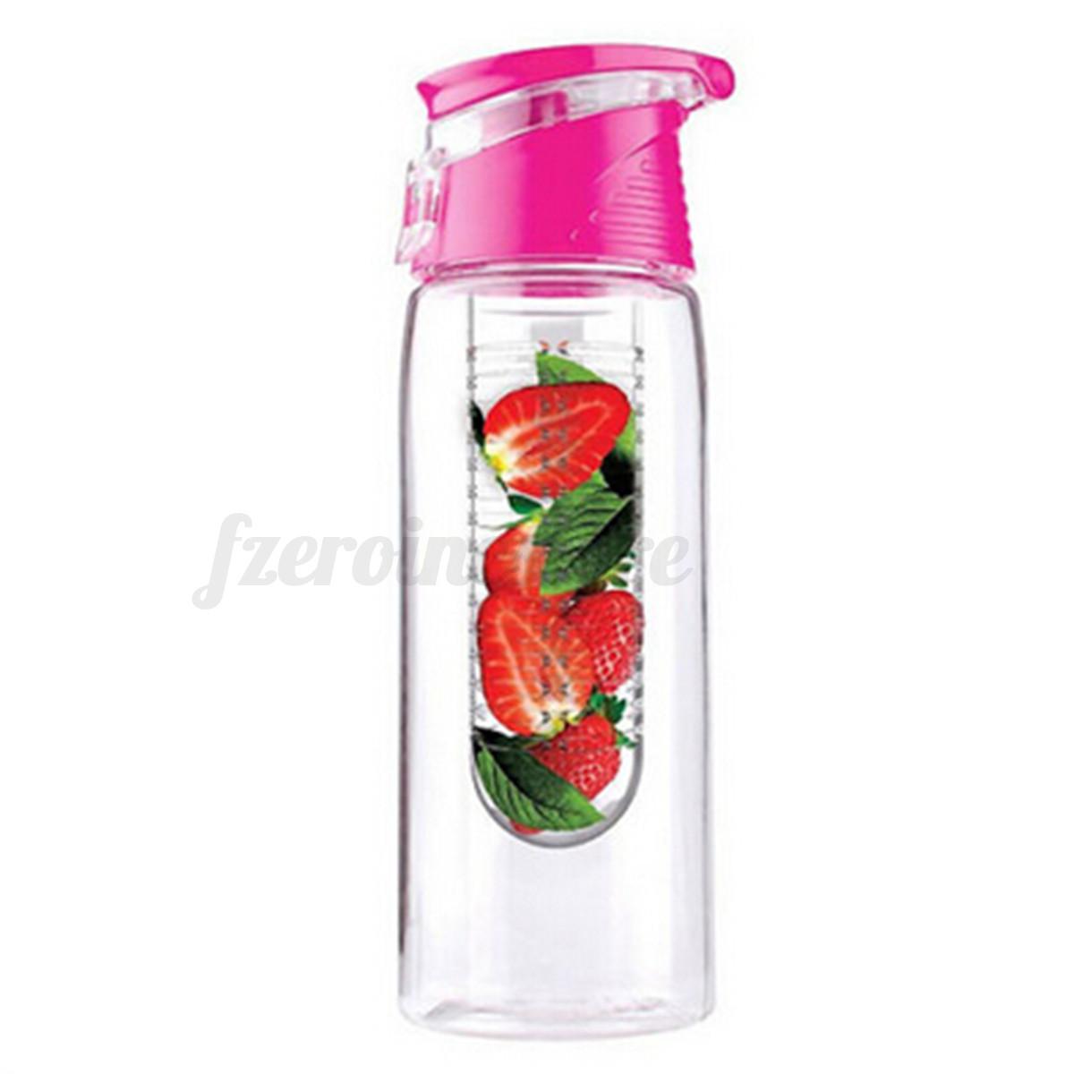 Water Bottle You Put Fruit In: 800ml Tritan Water Fruit Drink Infuser Juice Gym Bottle