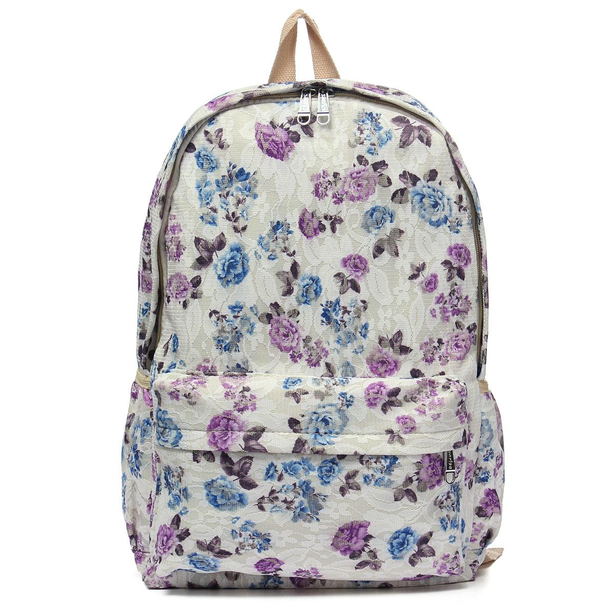 Floral School Shoulder Bag 19
