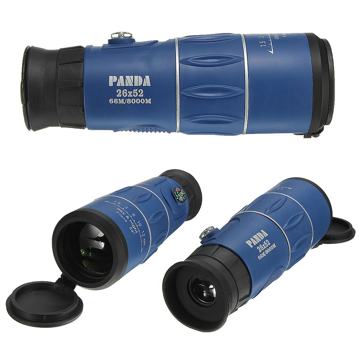 Panda 26x52 66M/8000M HD Clear Zoom Optical Monocular Telescope Hunting Camping