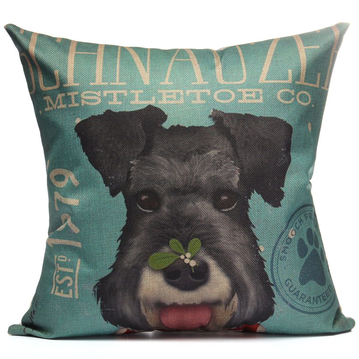 Decorative Pillow With Dog : Cotton Linen Animal Dog Cat Pillow Case Throw Cushion Cover Home Sofa Car Decor eBay