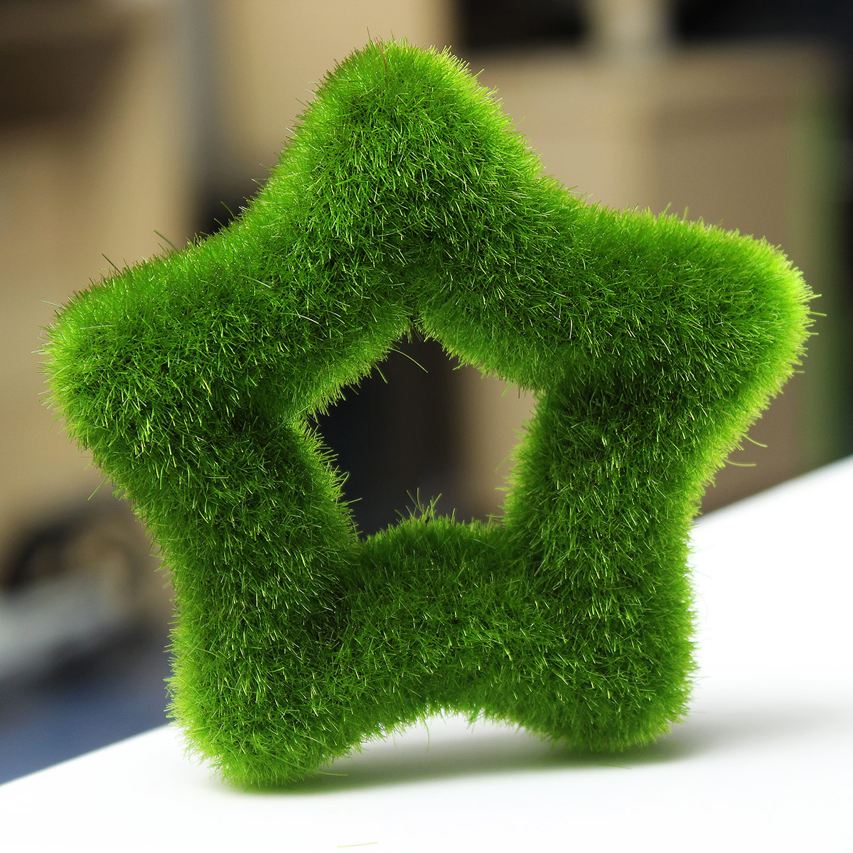 Artificial Moss Ball Star for Potted Plant Ornament Home ...