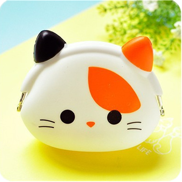 Hot Sale Wallet Kawaii Women Girl Gift Cartoon Animal Silicone Jelly Coin Purse