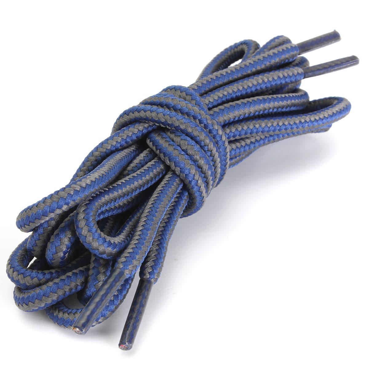 1pair agletless hiking walking work combat boot shoelace