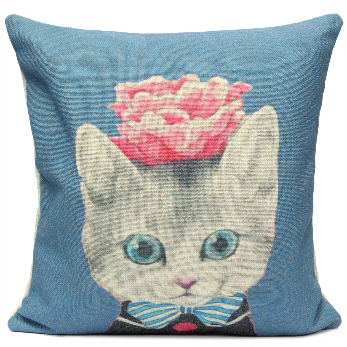 Chein chat animal housse de coussin canap taie d 39 oreiller - Housse protection canape chat ...