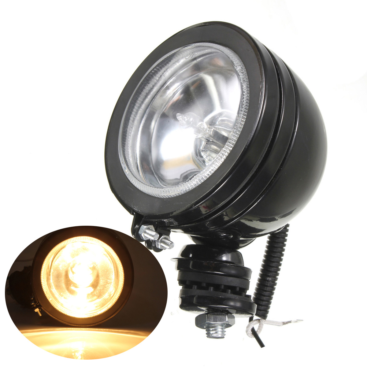 3 h3 12v 55w led car spotlight spot halogen fog light white beam work lamps ebay. Black Bedroom Furniture Sets. Home Design Ideas