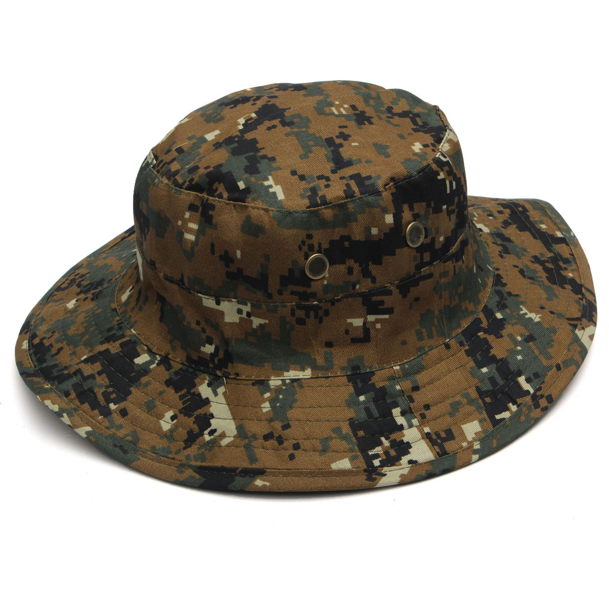Bucket hat boonie hunting fishing outdoor cap wide brim for Camo fishing hat