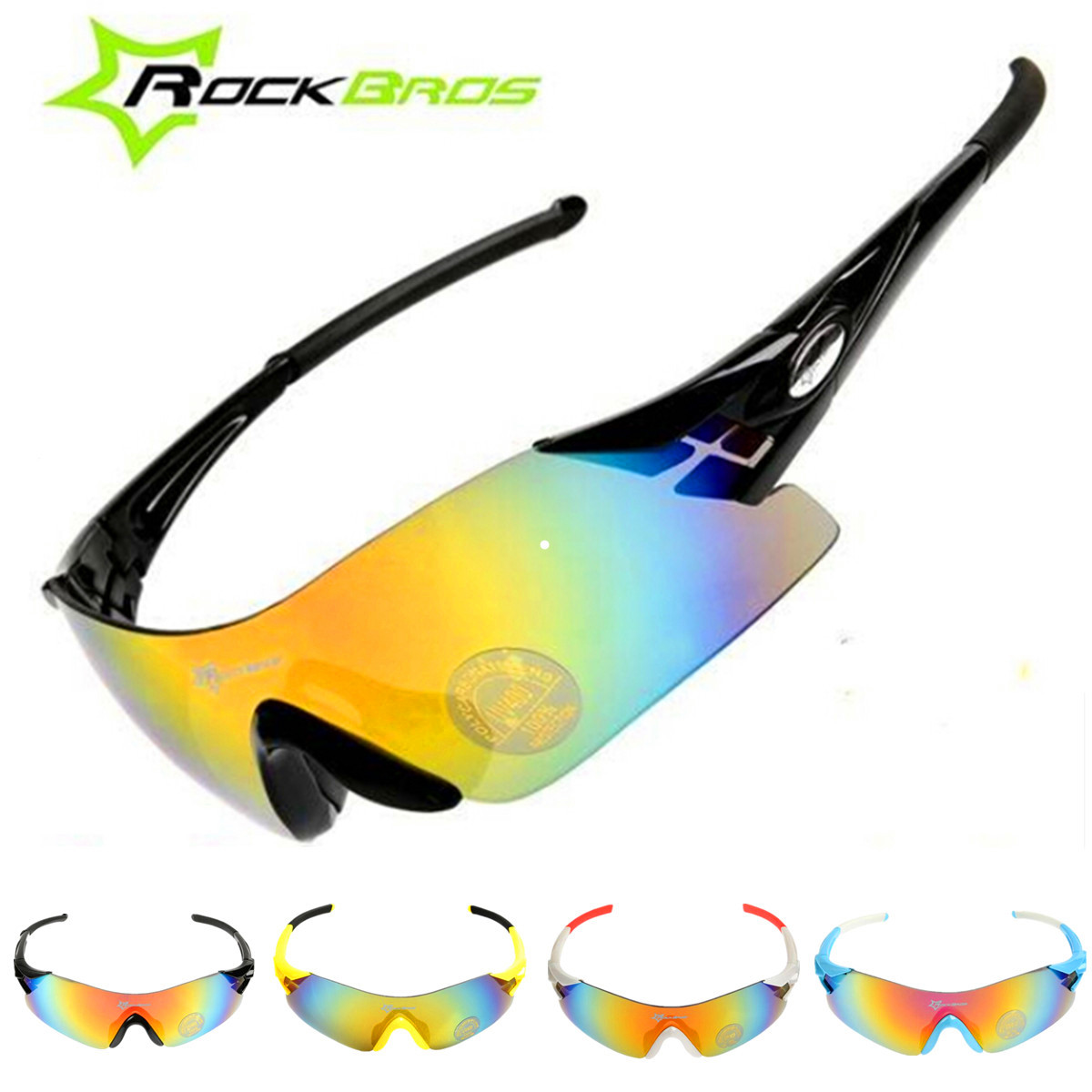 bike riding sunglasses  ROCKBROS Sport Cycling Bicycle Bike Riding Sun Glasses Eyewear ...