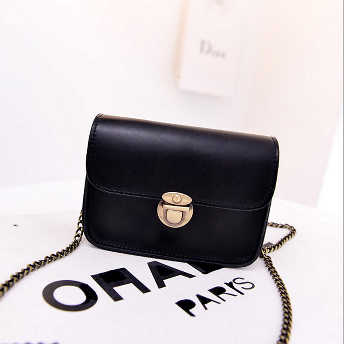 Women Lady Leather Chain Shoulder Bag Messenger Crossbody Satchel Handbag Purse