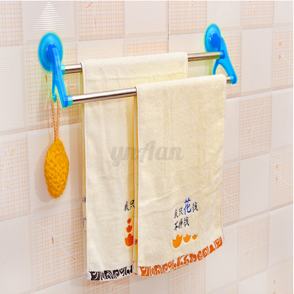 Ventouse porte serviette crochet etag re mural support - Crochet ventouse salle de bain ...