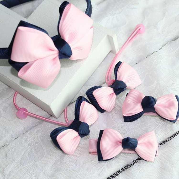 Candy Color Girl Bow Bowknot Kids Hair Clip Band Headband Hairpin Accessories