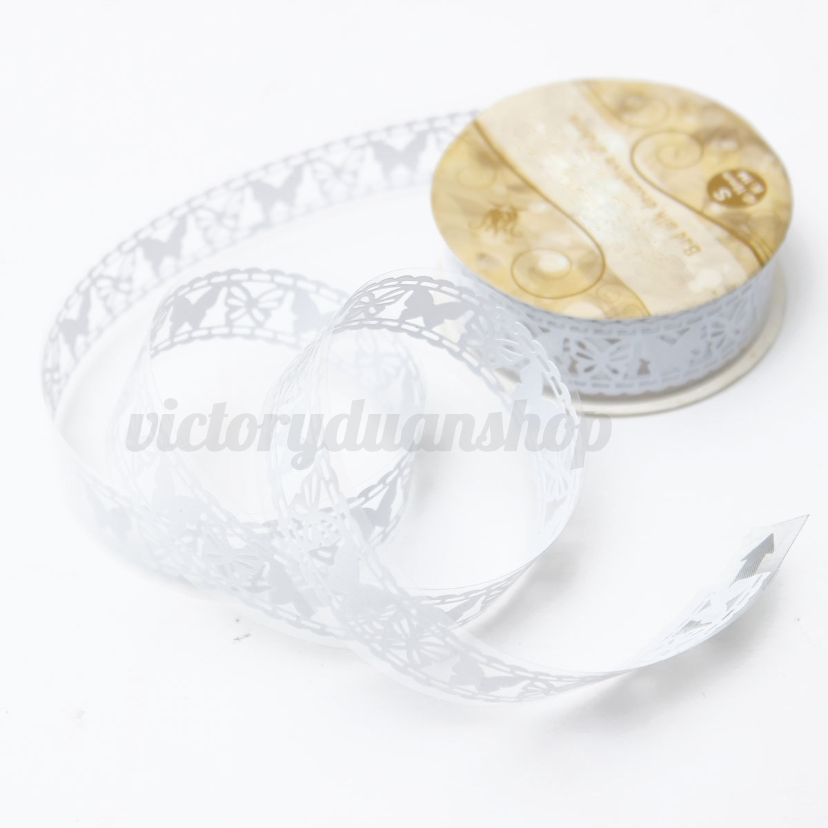 Diy hollow lace butterfly style adhesive tape scrapbook for Adhesive decoration