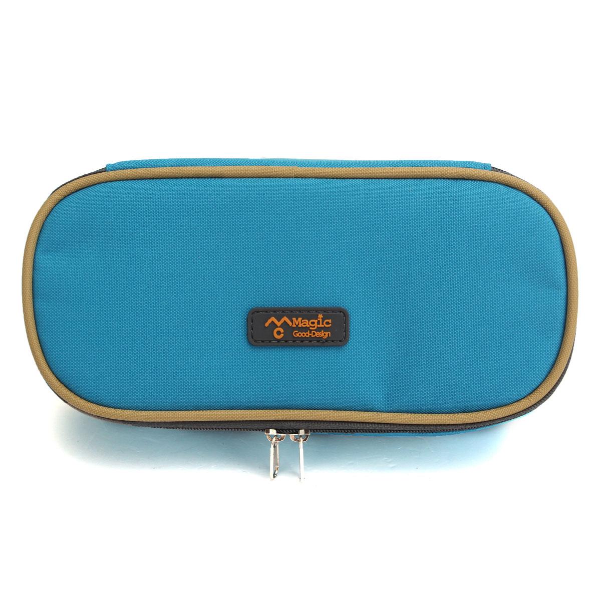 New Colorful Canvas Zipper Pencil Case Pen Cosmetic Travel Makeup Bags Handbag