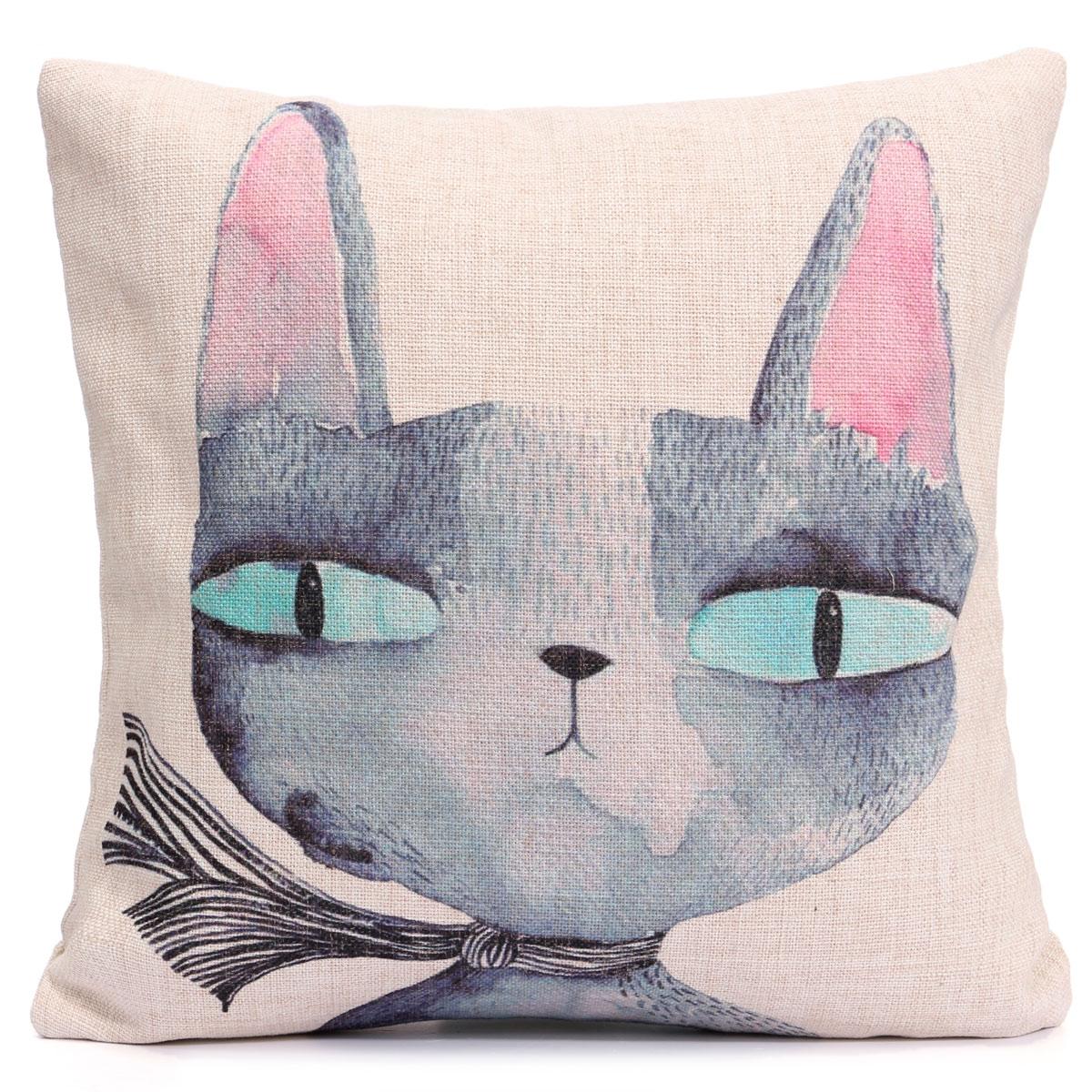 Chein chat animal housse de coussin canap taie d 39 oreiller - Housse coussin de canape ...