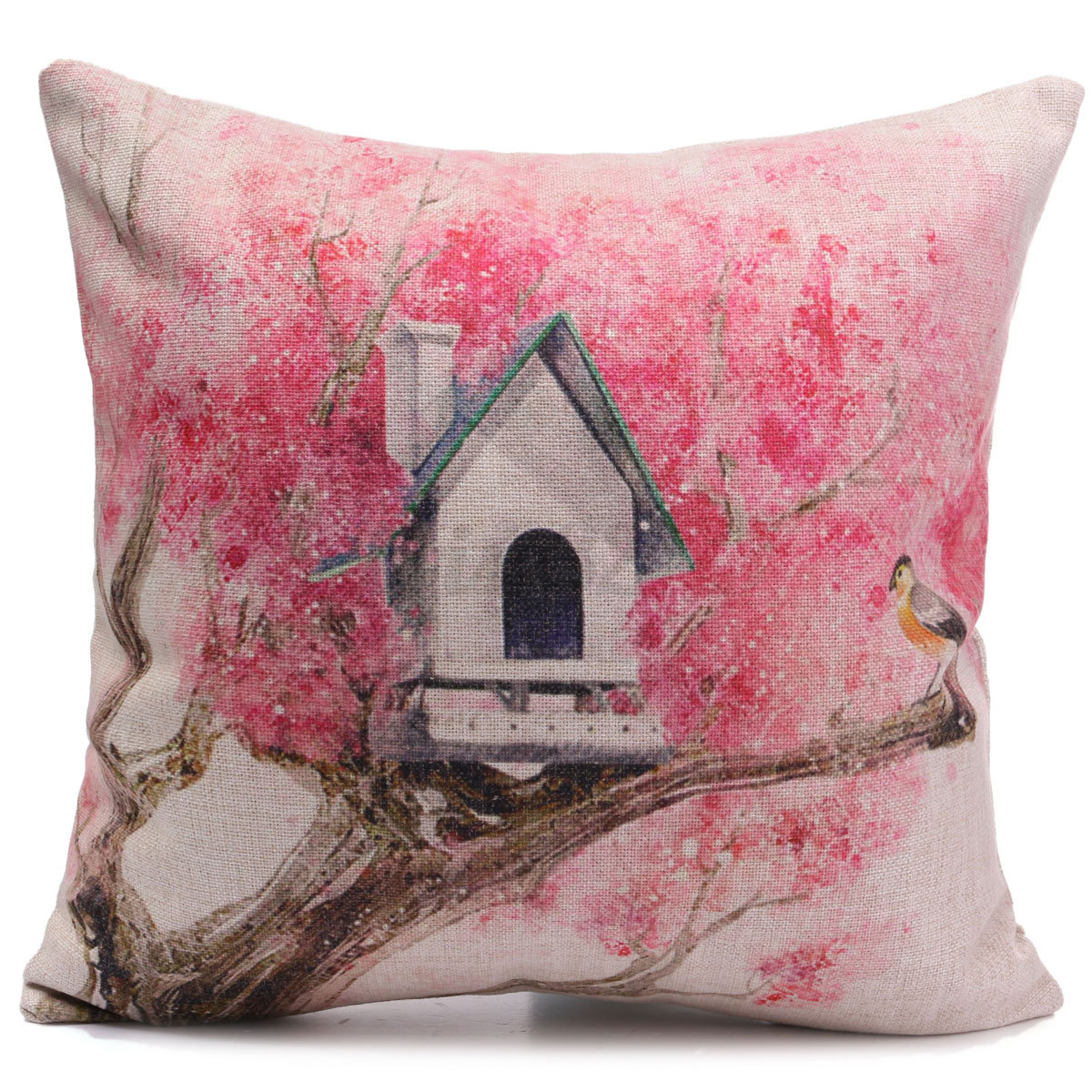 Throw Pillow Bed : Cotton Linen Forest Throw Pillow Case Cover Bed Sofa Pack Cushion Home Decor eBay