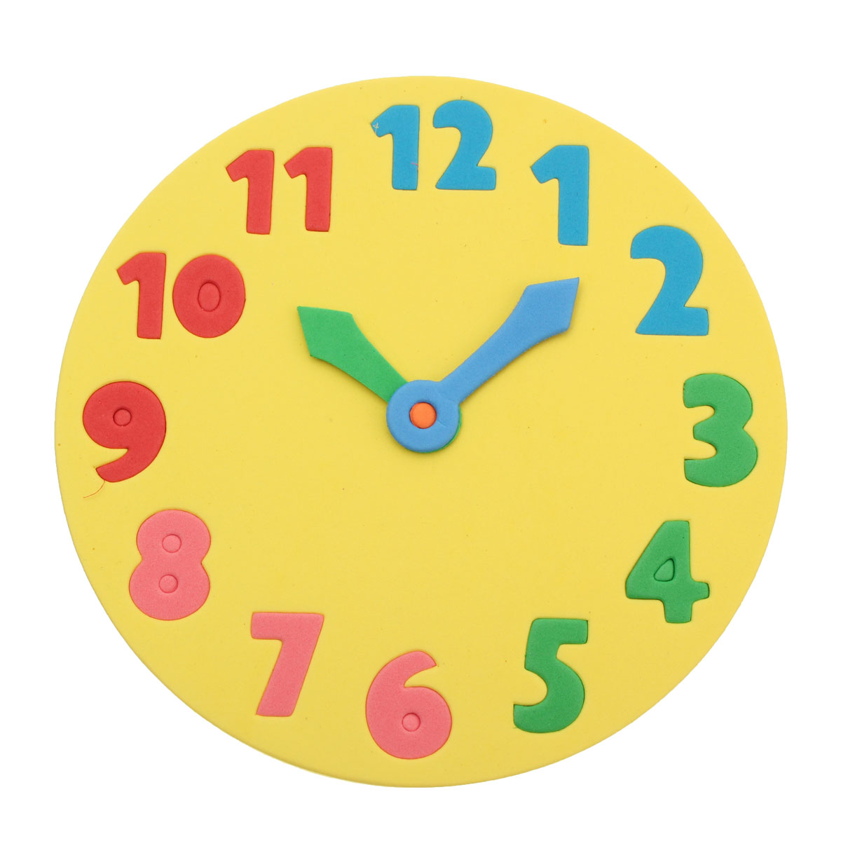 worksheet Learning Time foam number puzzle clock 18cm early learning time jigsaw assorted time