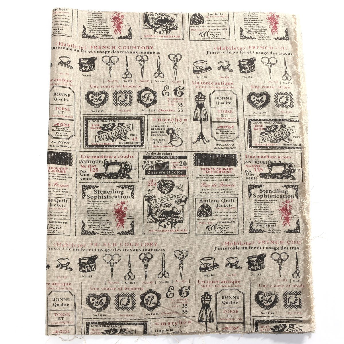 25 Styles 50x75cm Vintage Cotton Linen Fabric Cloth DIY Handmade Patchwork NEW