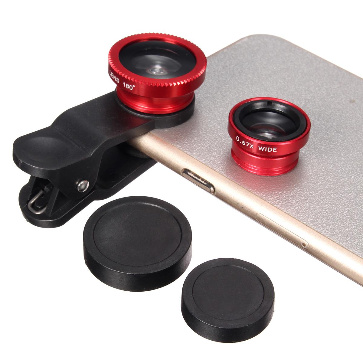 3 in 1 fish eye macro wide angle universal mobile for Fish eye lens