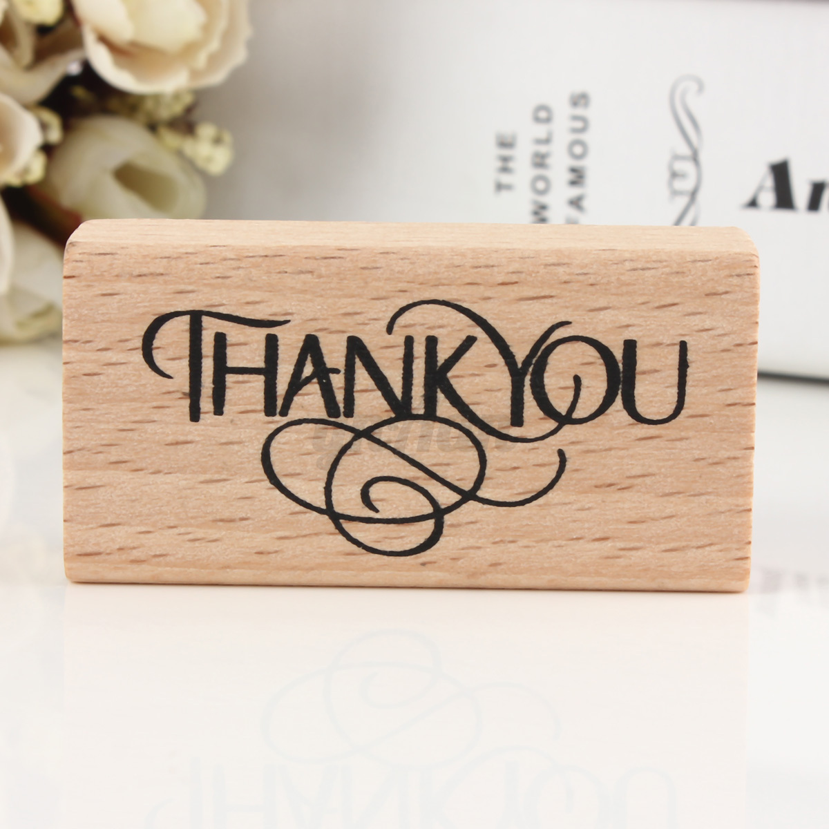 Wedding Thank You Gifts Who Gets : ... Thank You wooden rubber ink stamp, gift tags parcels Wedding Favours