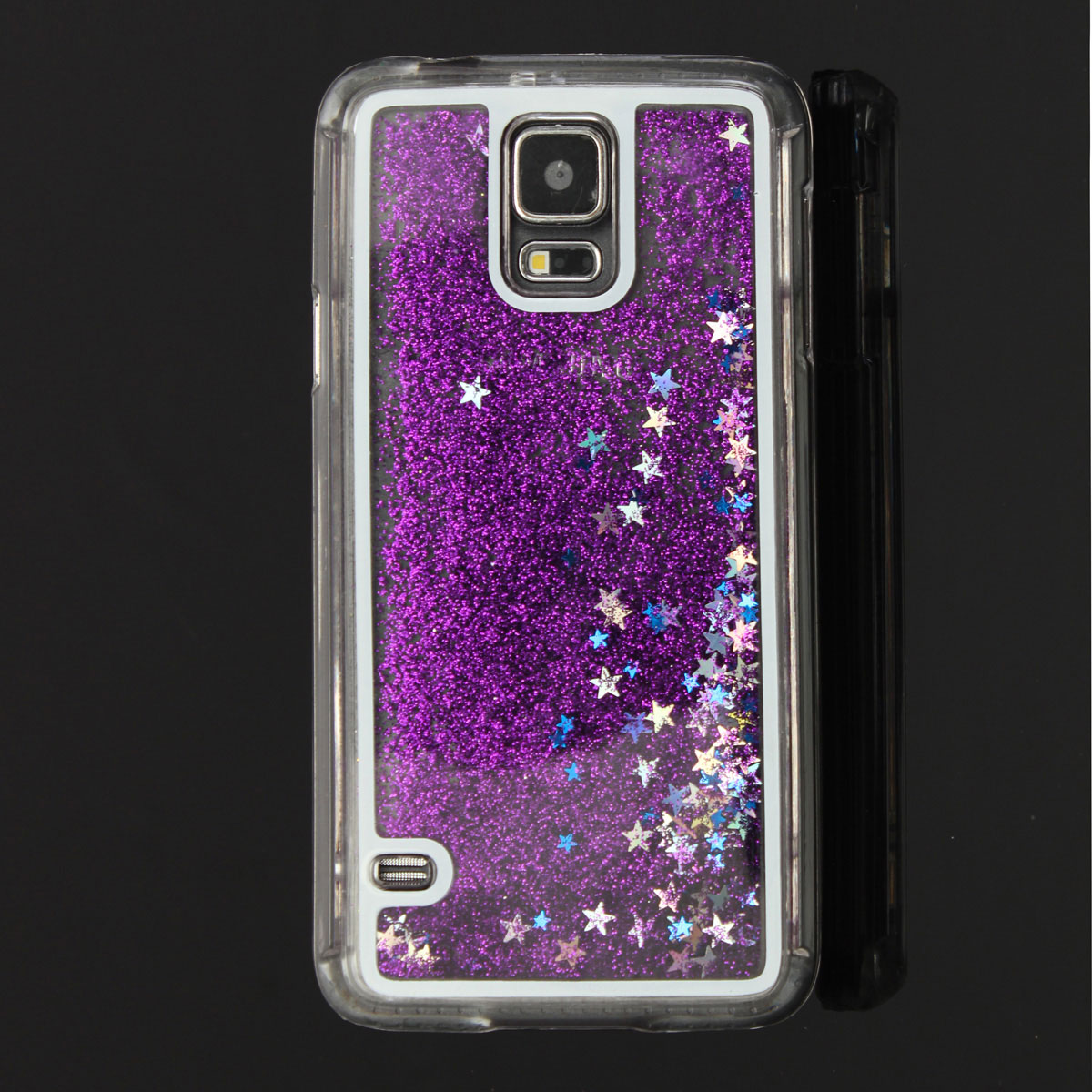 Glitter liquido custodia cover trasparent hard back per for Pitture brillantinate