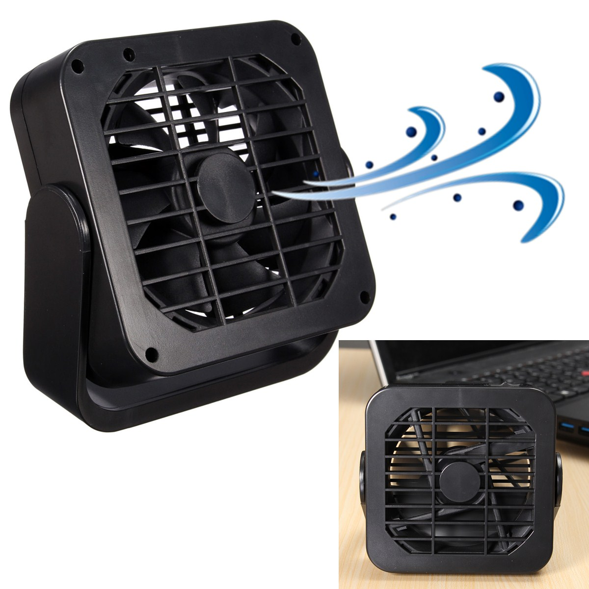 360 magn tique mini usb fan refroidisseur ventilateur. Black Bedroom Furniture Sets. Home Design Ideas