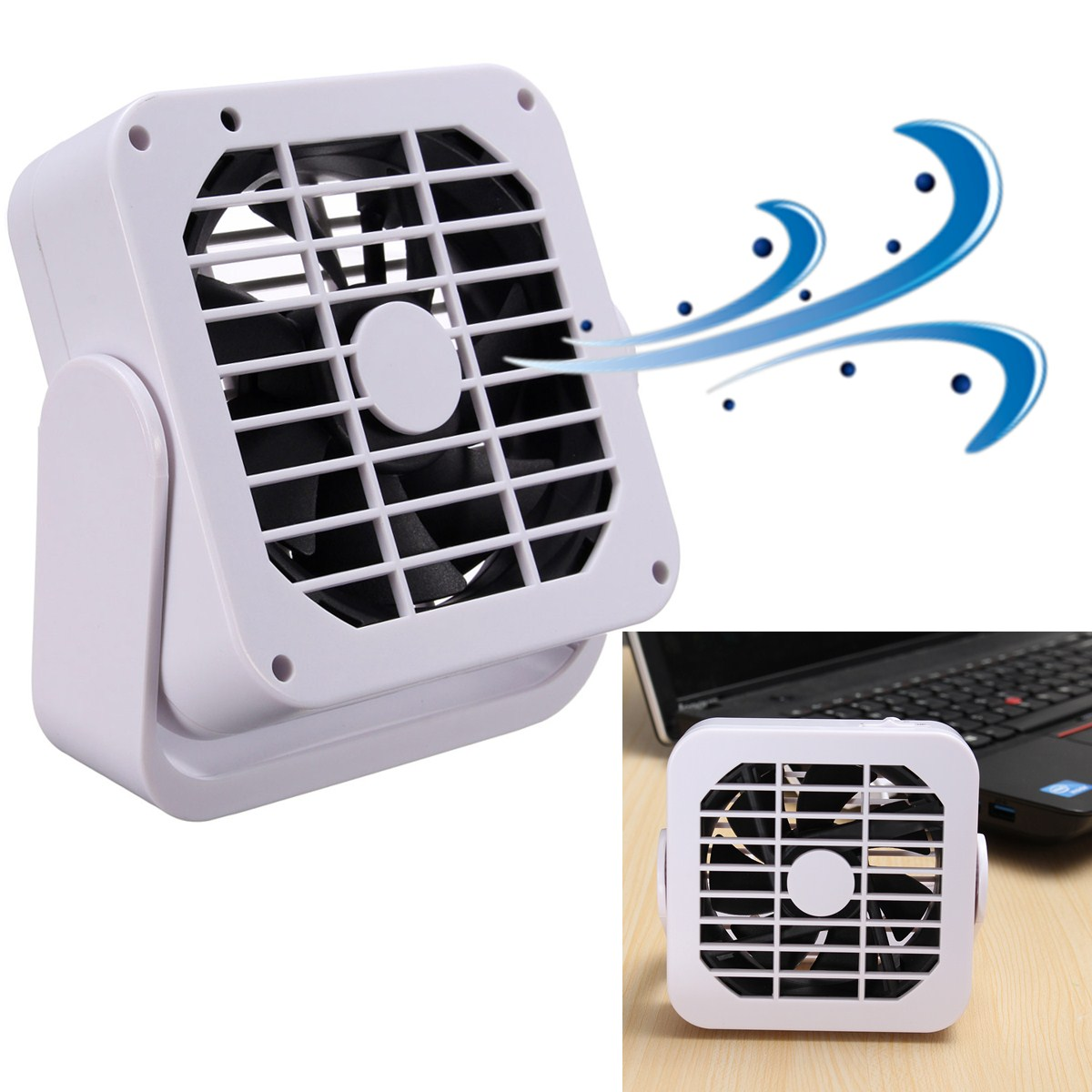 360 magn tique mini usb fan refroidisseur ventilateur silencieux pour laptop pc ebay. Black Bedroom Furniture Sets. Home Design Ideas