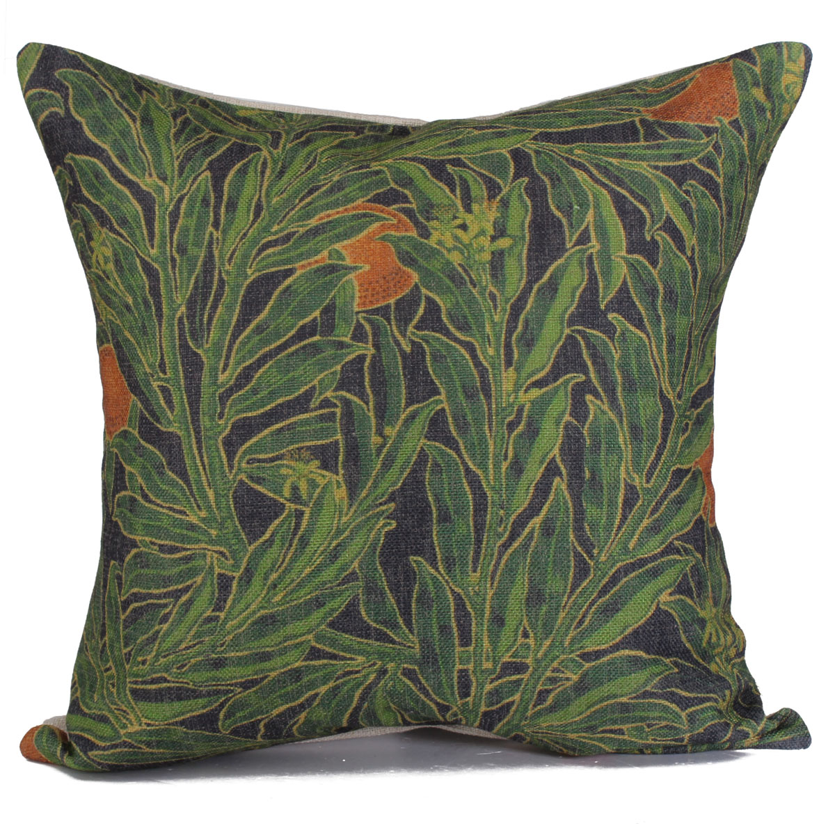 Green Forest Flower Cotton Linen Pillow Case Home Sofa Throw Cushion Cover 18? eBay