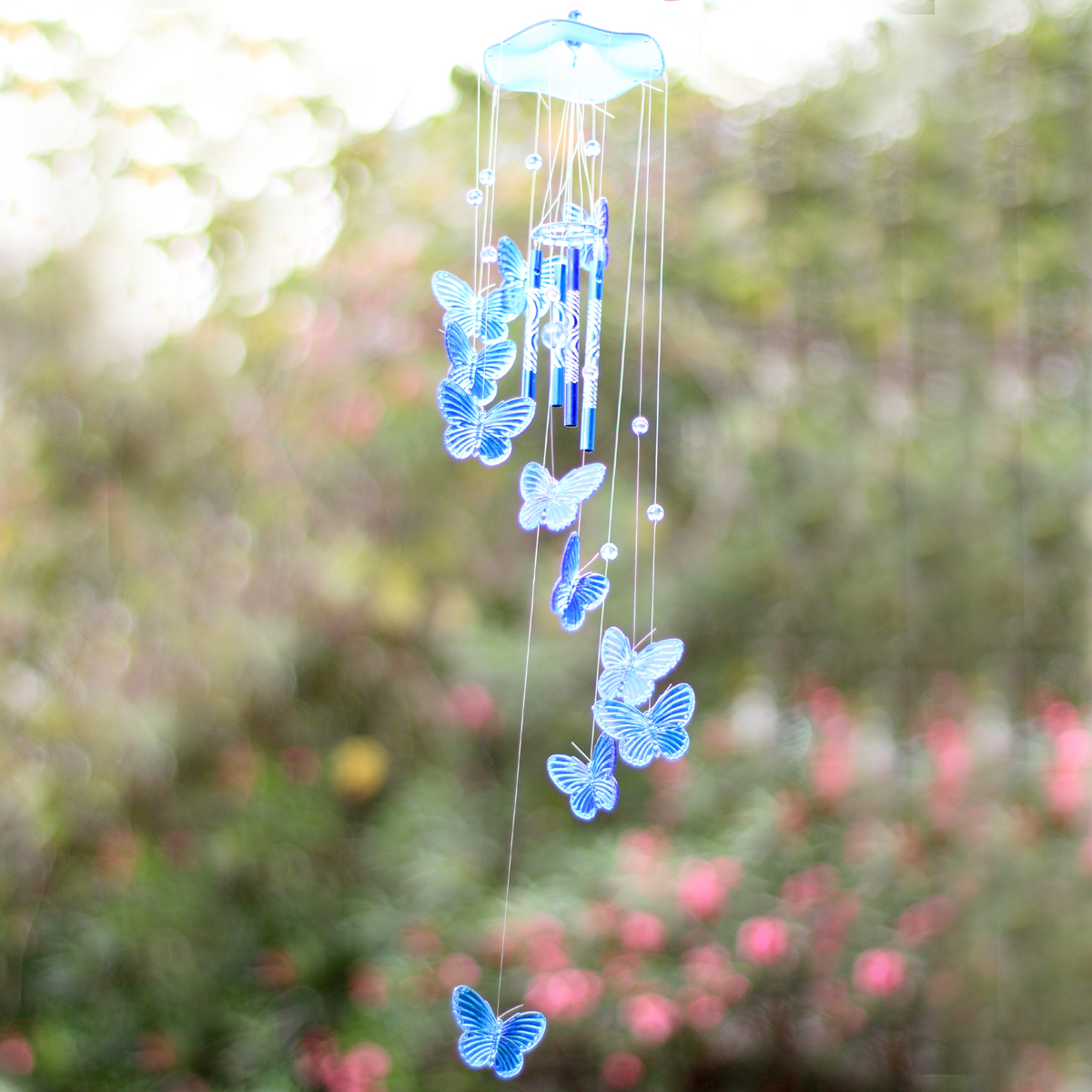 Creative Butterfly Mobile Wind Chime Bell Garden Ornament Gift Living Decor