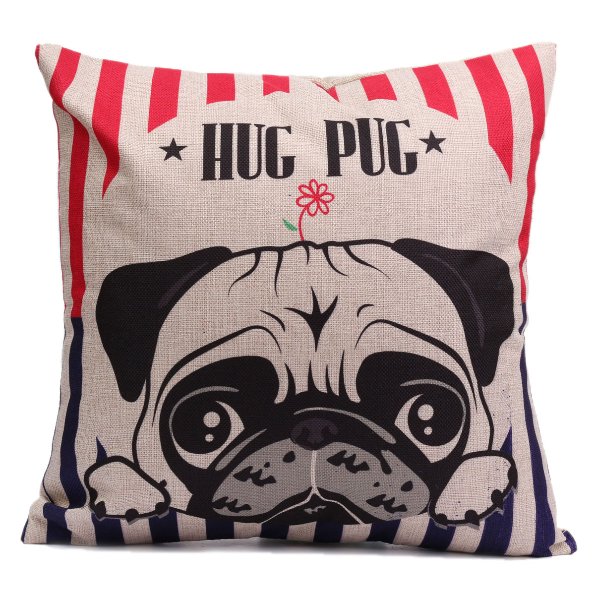 43 * 43cm Dog Home Cushion Cover Decor Square Throw Pillow Case Cute Animal