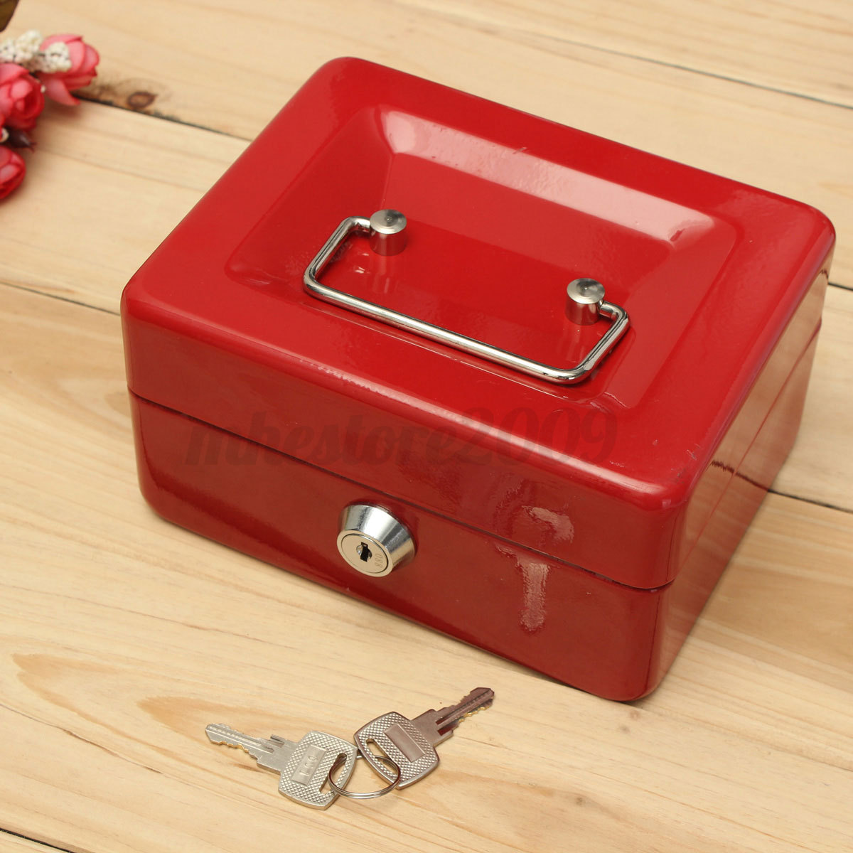 Stainless Steel Tiered Cash Money Box Lock Locking Bank