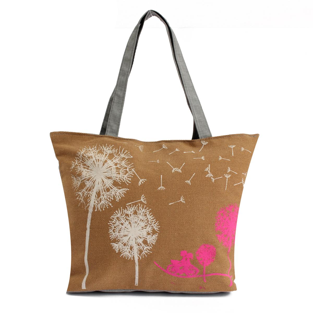 New Women Canvas Dandelion Handbag Shoulder Bag Satchel Shopper Messenger Tote