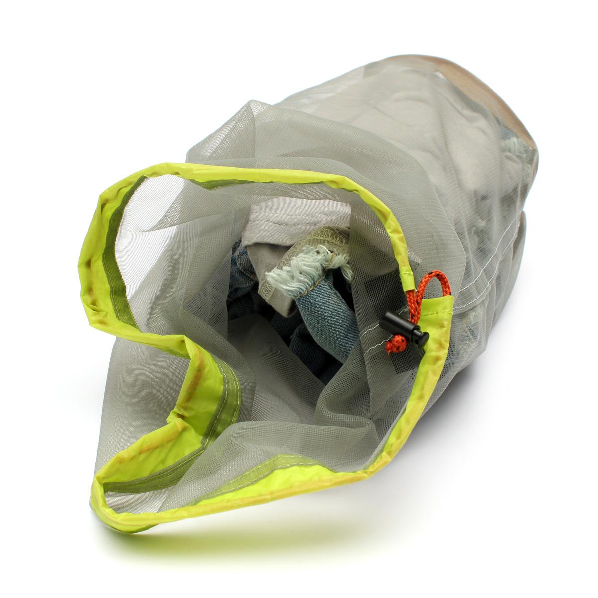 Tavel Camping Hiking Sports Ultralight Mesh Stuff Sack Drawstring Nylon Mesh Bag