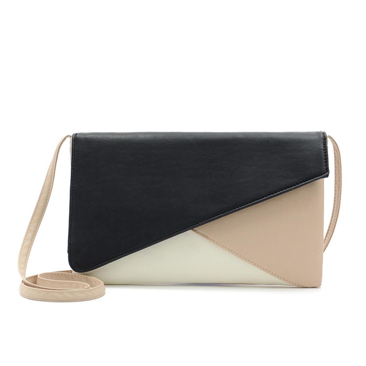 Contrast Hit Color Envelope Women's Clutch Shoulder Messenger Bag Crossbody New
