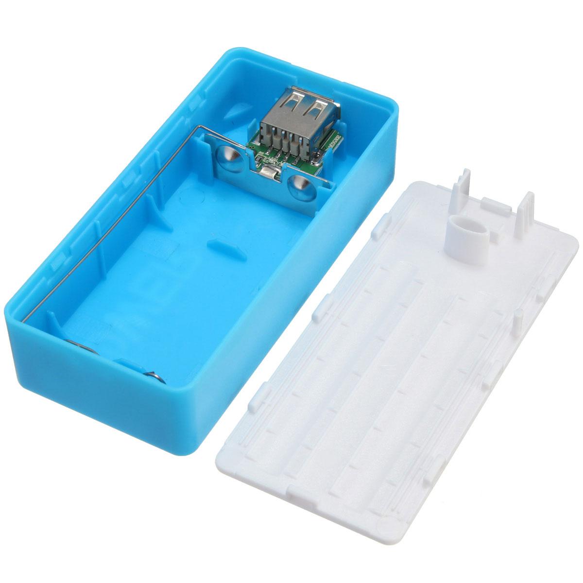 5600mAh 5V USB Power Bank 2x18650 Battery Charger DIY BOX ...