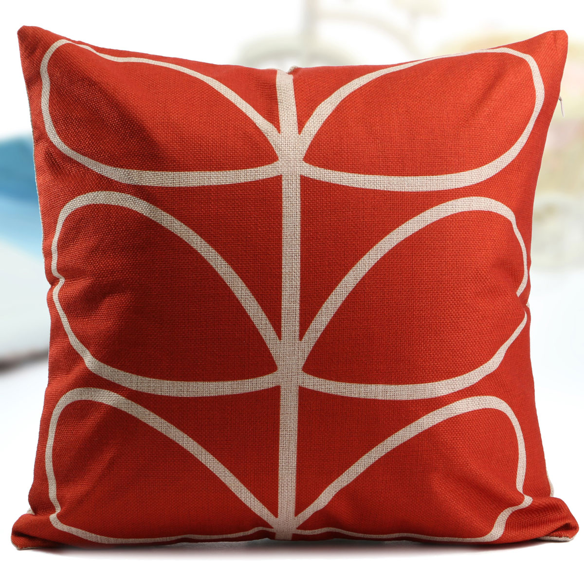 rojeyargyle pattern linen throw pillow case cushion cover ho