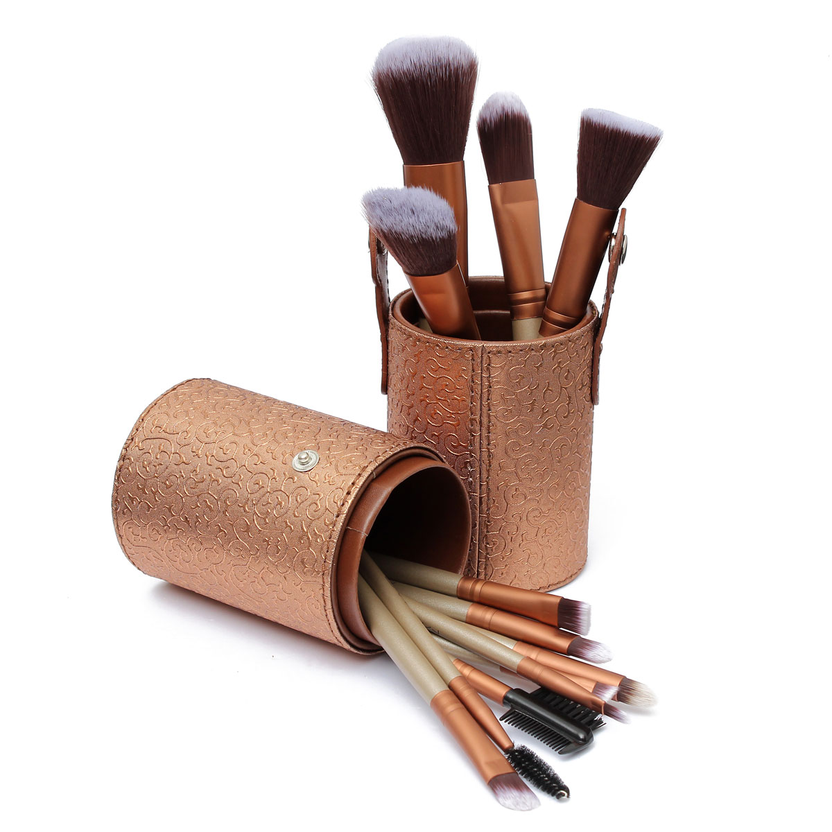 Makeup Leather Storage Empty Holder Cosmetic Cup Case For Brush Pen 8 Colors Hot