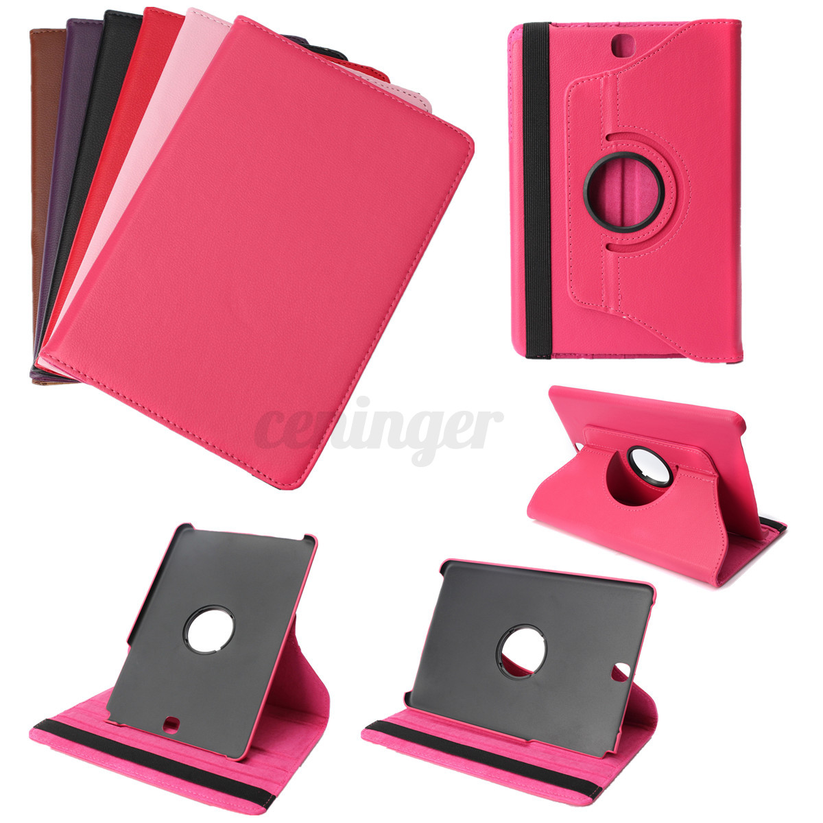 360 Rotating Flip Leather Case Cover Stand For Samsung Galaxy TAB A AL 9.7 T550