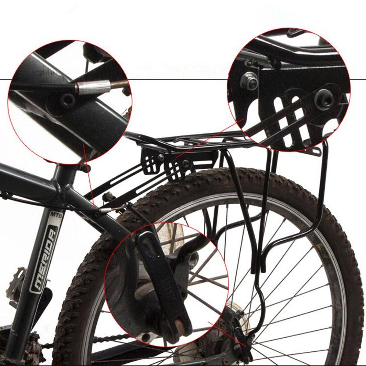Extendable Bike Rack : Shaft mount bicycle extendable bike cycling pannier rear