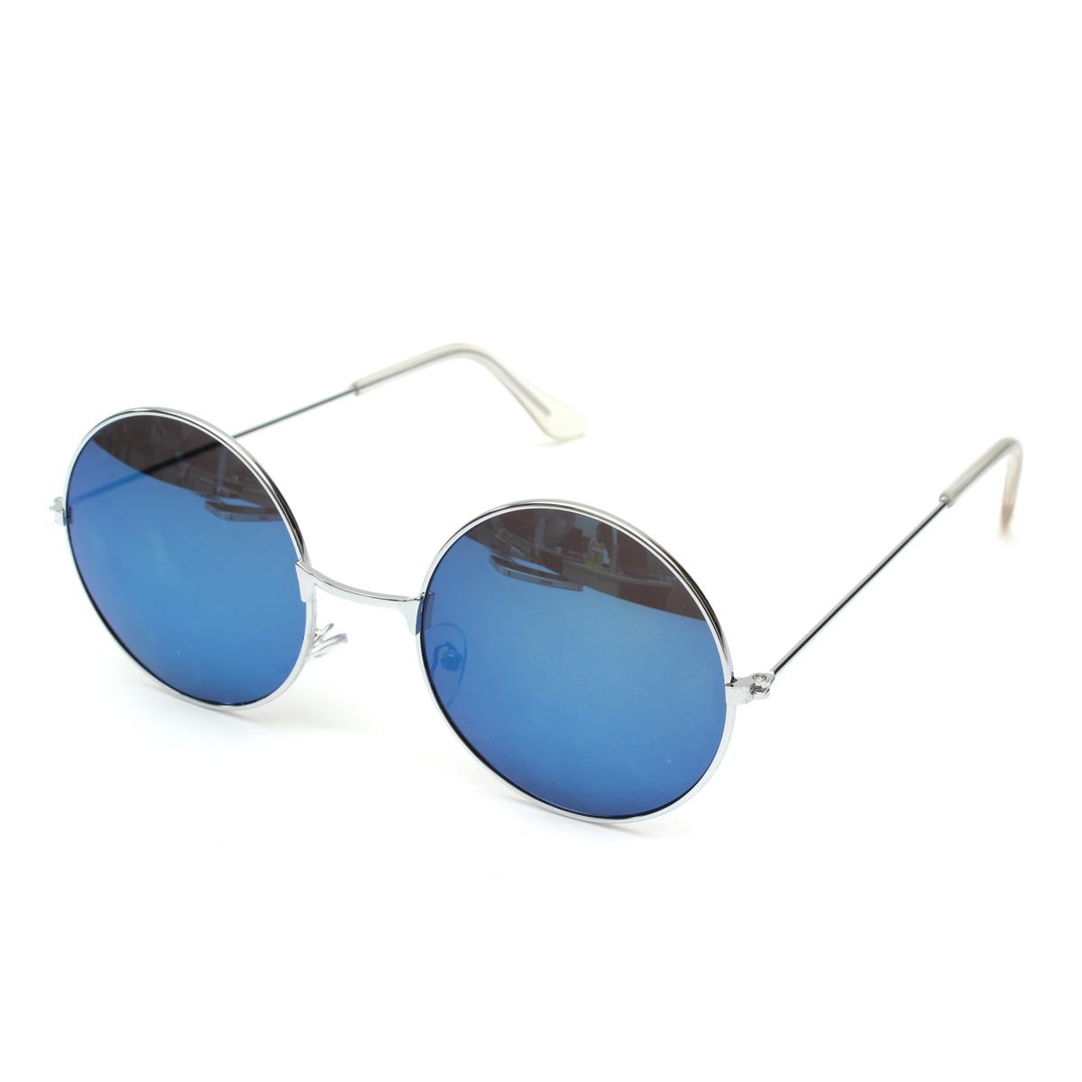 Unisex Vintage Retro Round Metal Frame Sunglasses Glasses Eyewear for Men Women