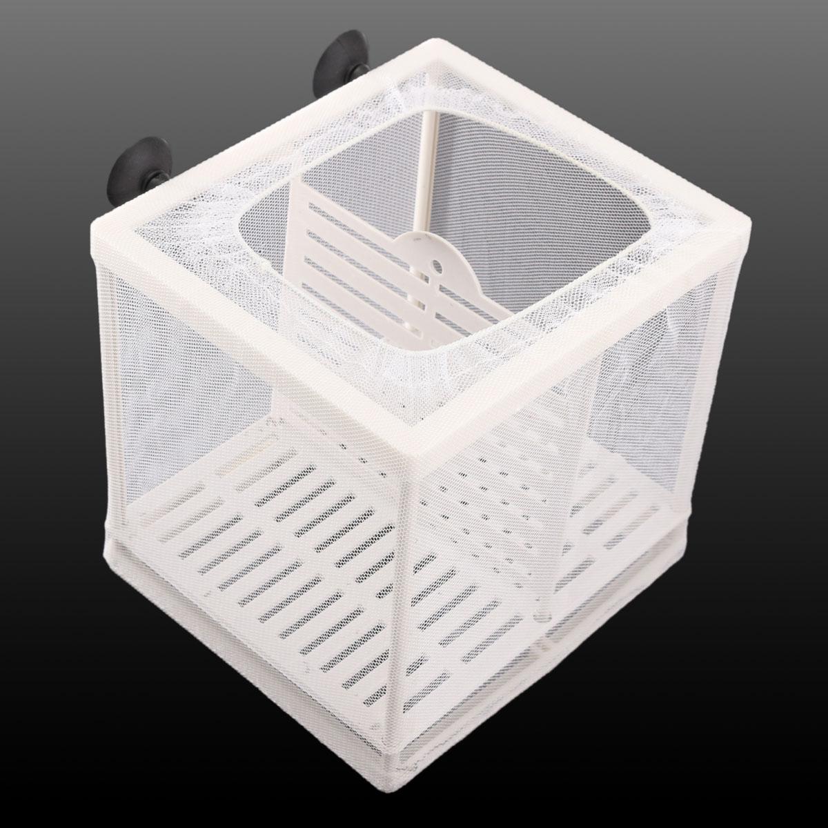 White net breeder aquarium fish tank baby shrimp breeding for Fish breeding net