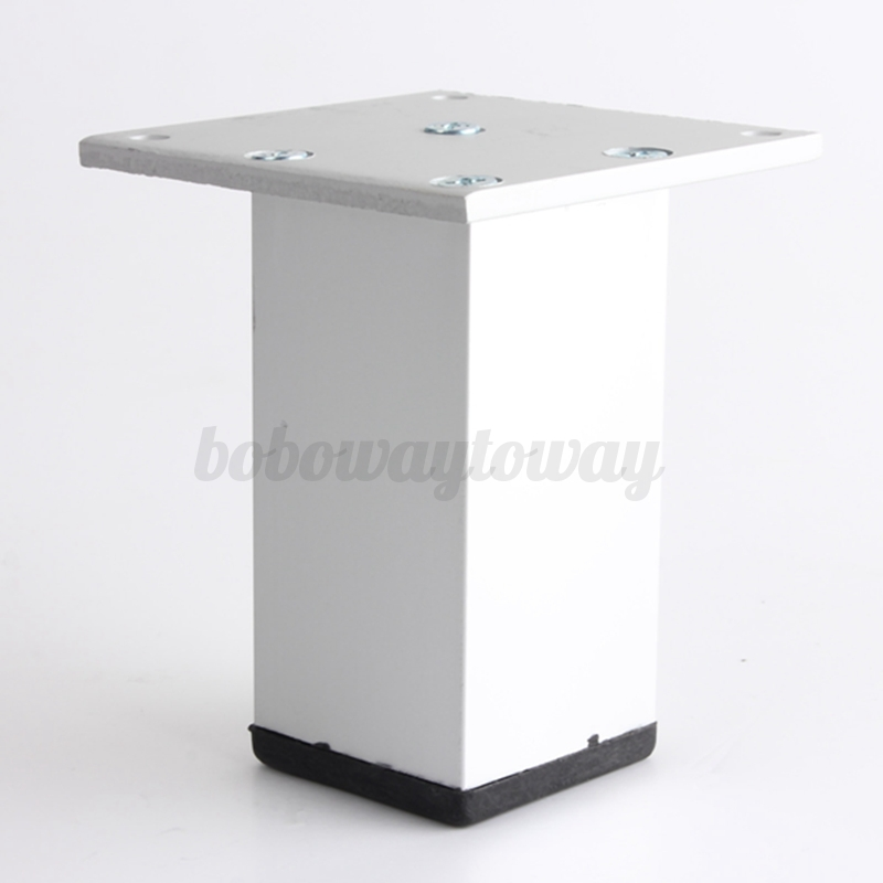 Metal Legs Square Aluminum Furniture Table Cabinet Showcase Feet Stand 7 Sizes Ebay