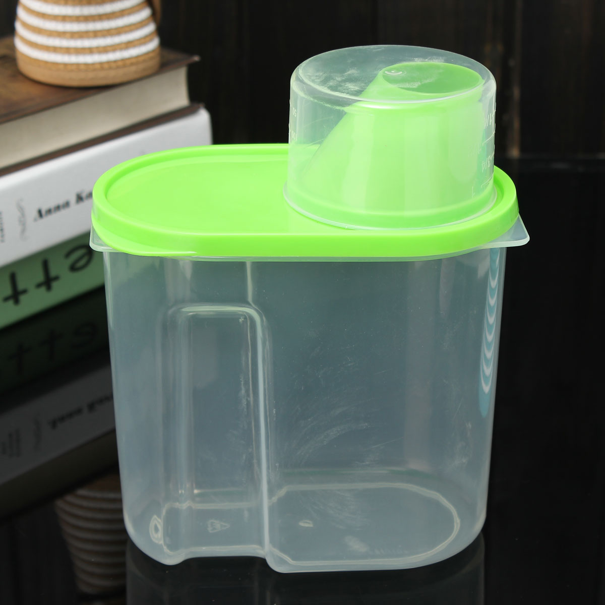 1.9L Plastic Dry Dried Food Cereal Grain Dispense Rice Storage Container Box Hot
