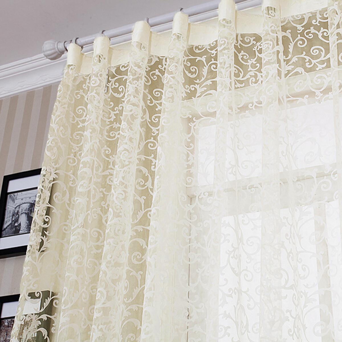 Tenda Tendina Arredo Finestra Fiore Pizzo Curtain Window