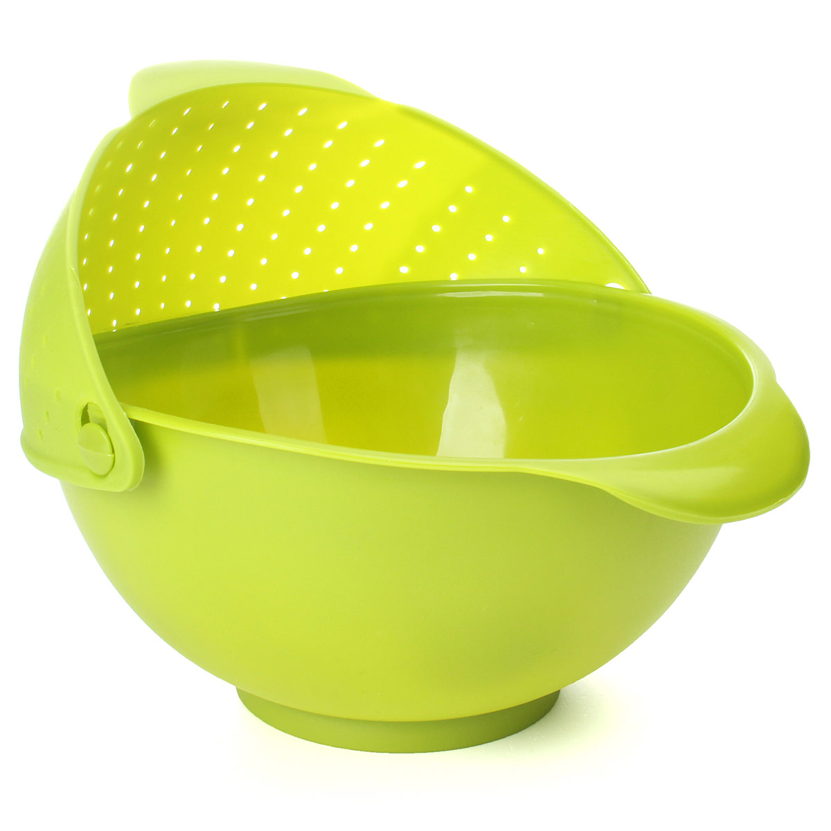 2in1 Kitchen Rinse Bowl & Strainer Fruit Vegetable Food Rice Wash Sieve Colander