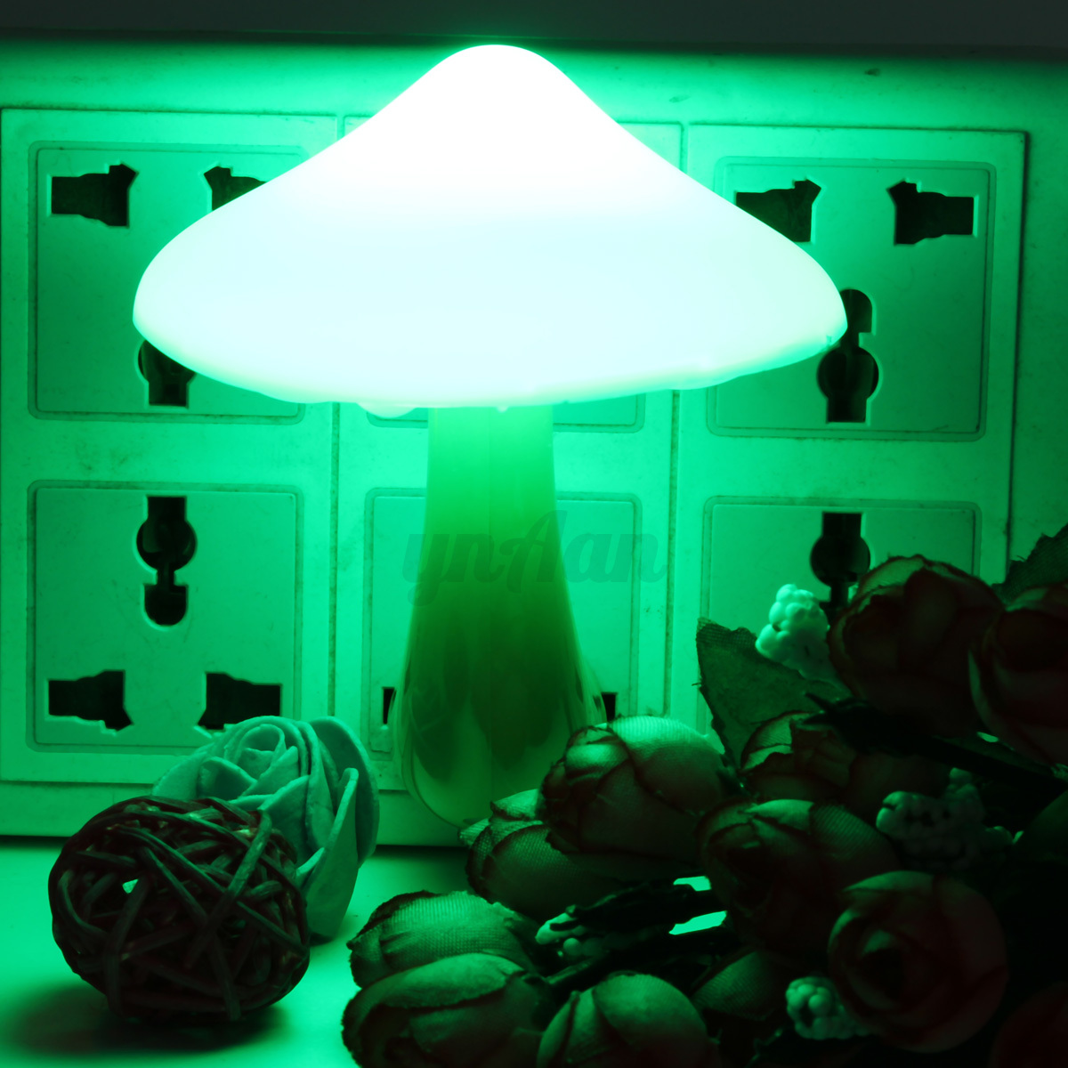 Colorful Energy Saving Mushroom LED Night Light Sensor ...