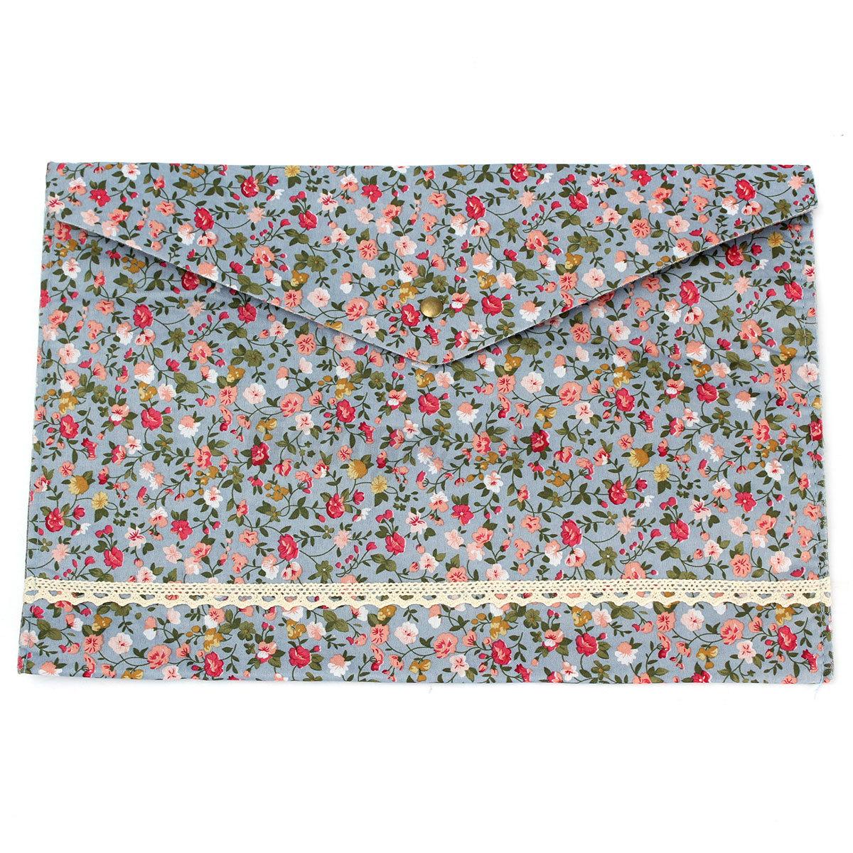 fleur pochette porte document portefeuille poche sac chemise classeur format a4 ebay. Black Bedroom Furniture Sets. Home Design Ideas