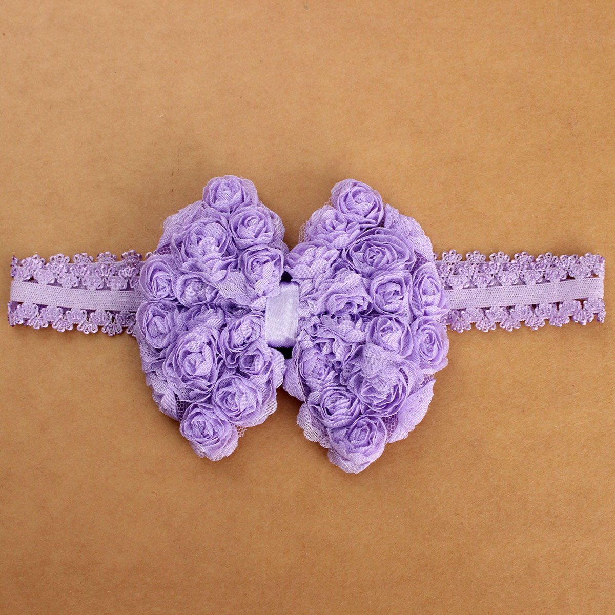 Baby Kids Girl Lace Flower Headband Toddler Bowknot Hair Band Accessory Headwear
