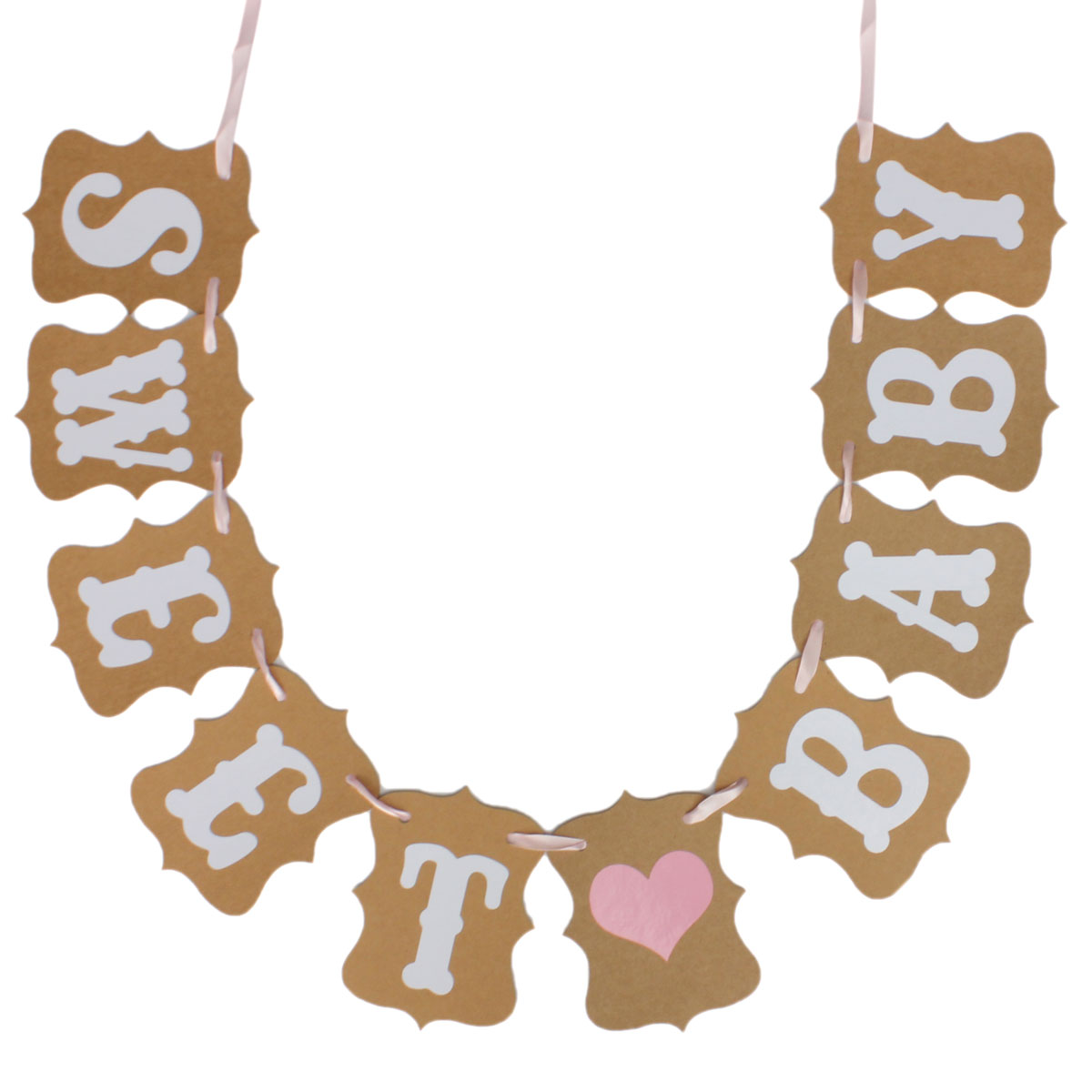 Sweet Baby Shower Candy Bar Banner Bunting Garland Rustic Party Decoration Sign