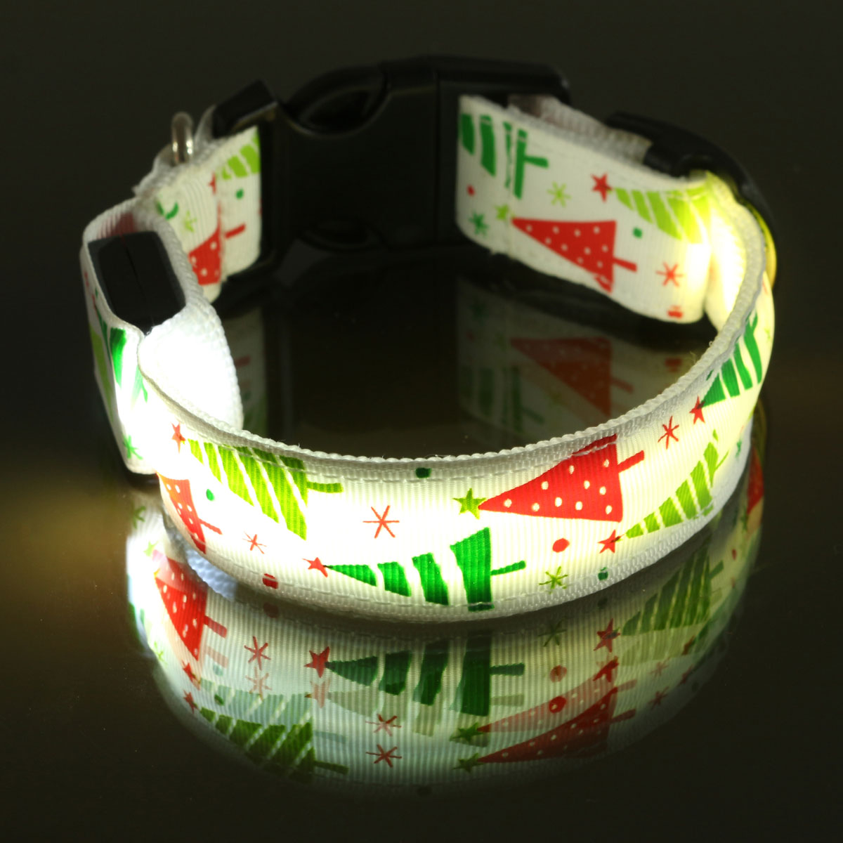 No l led chien animaux collier lumineux clignotant r glable s curit lumi re - Animaux lumineux noel ...
