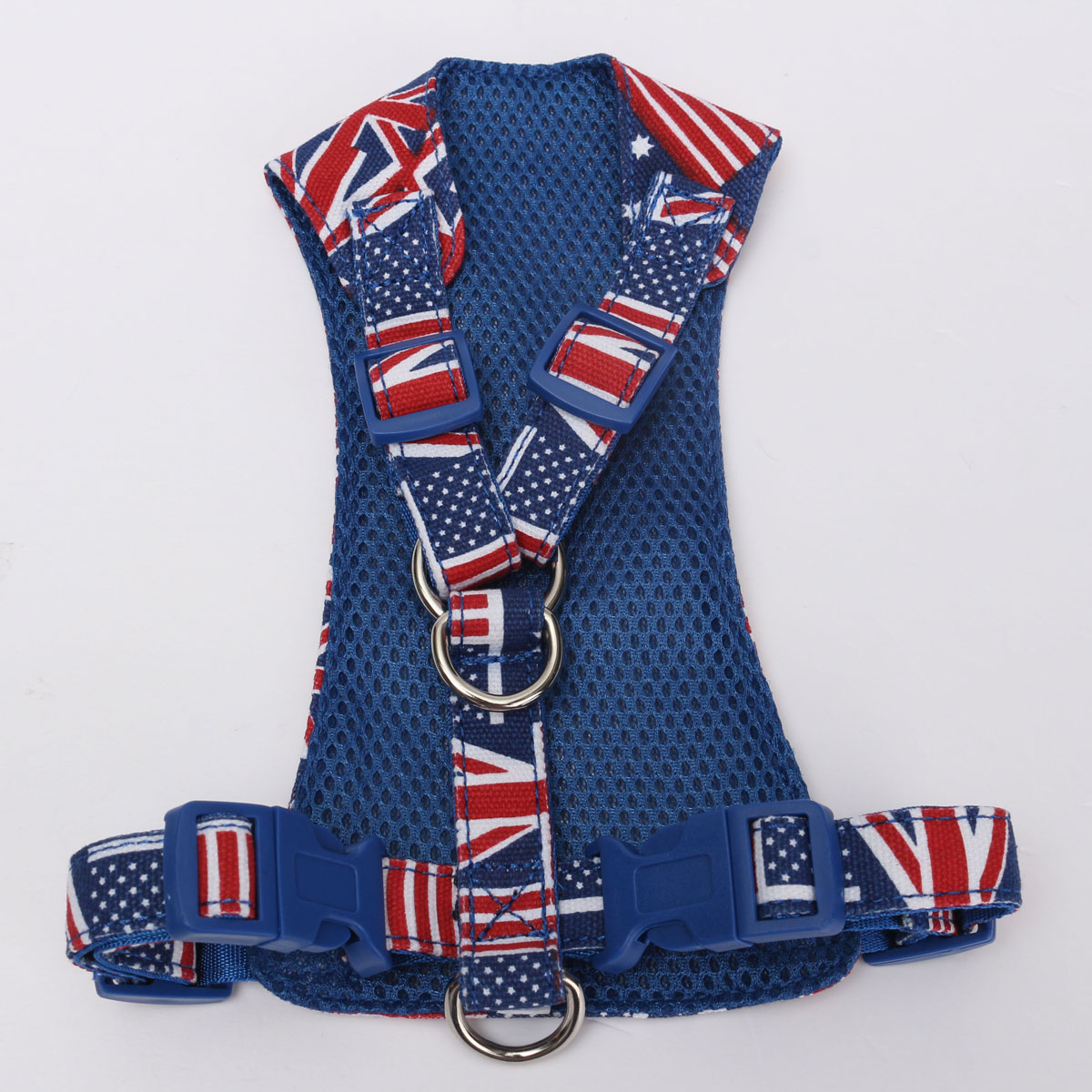 Union Jack Adjustable Pet Harness Dog Cat Walking Leash Collar Strap Mesh Vest
