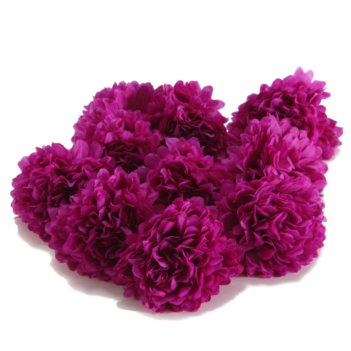 10pcs Artificial Flower Silk Clove Daisy Spherical Heads Bulk Home Wedding De